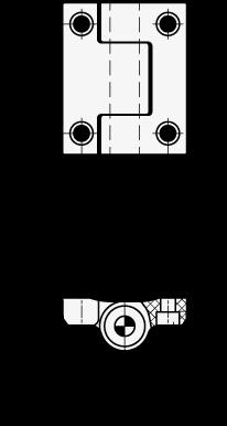 EN 233.3 Bisagras de tecnopolimero plástico, sin retorno accionado por muelle boceto