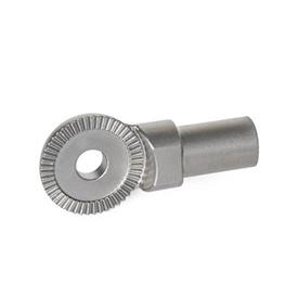 GN 187.5 Stainless Steel Serrated Locking Plates, Stud / Flange / Plate Type Type: A - Plain stud (weldable)