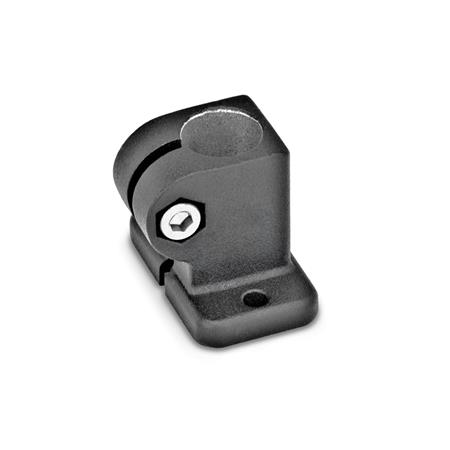 GN 162.3 Aluminum, Base Plate Connector Clamps Finish: SW - Black, textured finish