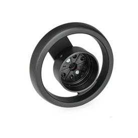 EN 522.8 Technopolymer Plastic Two Spoked Handwheels for Position Indicators EN 000.8 / EN 000.3 Type: A - Without handle