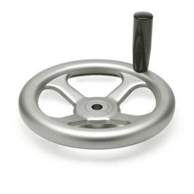 GN 227.2 Stainless Steel Spoked Handwheels, with or without Revolving Handle Bore code: B - Without keyway<br />Type: D - with revolving handle