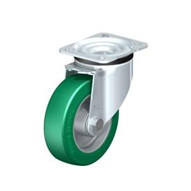 LK-ALST Pressed Steel Swivel Casters, with Medium Heavy Duty Brackets Type: K - Ball Bearing
