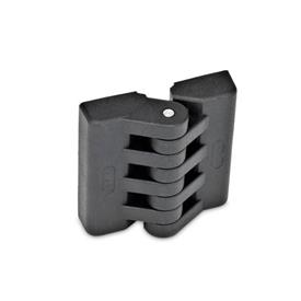 EN 151 Technopolymer Plastic Hinges Type: A - 2x2 tapped inserts
