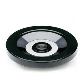 EN 520 Phenolic Plastic, Solid Disk Handwheels, with or without Revolving Handle	 Type: A - Without handle