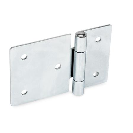 GN 136 Steel Sheet Metal Hinges, with Extended Hinge Wing Material: ST - Steel Type: B - With through holes