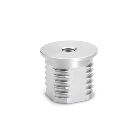 GN 992.5 Extremos de tubo roscados de acero inoxidable, tipo redondo o cuadrado Bildzuordnung: D