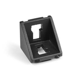GN 960 Aluminum, Angle Brackets, For 30/40/45 mm Aluminum Profile Systems
