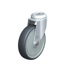 LKRA-TPA Steel Light Duty Swivel Casters, with Thermoplastic Rubber Wheels and Bolt Hole Fitting, Heavy Bracket Series  Type: K-FK - Ball Bearing with Thread Guard