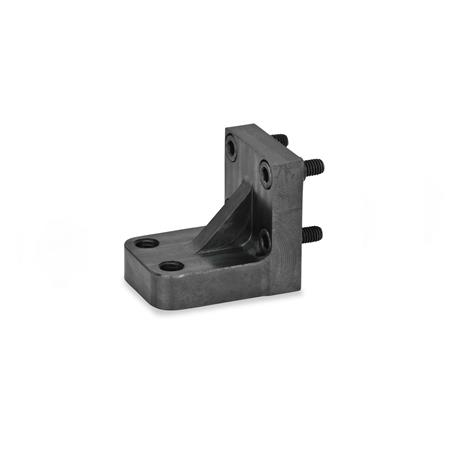 GN 867.1 Steel Gripper Bolt Brackets for GN 864 Pneumatic Fastening Clamps Type: Z - for two clamping bolts