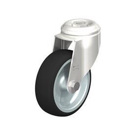 LKRXA-PATH Rodajas giratorias de acero inoxidable, montaje con agujero para perno, serie de soportes pesados Type: G - Cojinete liso