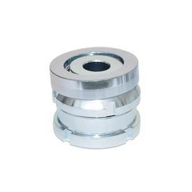 GN 350.2 Juegos de nivelación de acero zincado, con arandela esférica, sin contratuerca  Material: ST - Acero