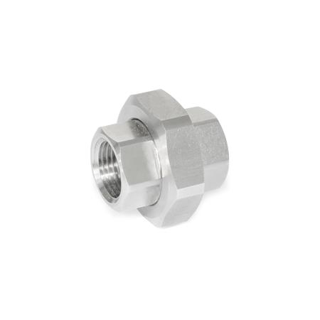GN 7405 Stainless Steel Strainer Fittings Type: A - Fitting with internal thread, on both ends