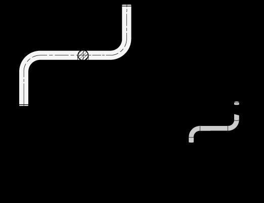 GN 480.5 Varillas de ajuste de acero inoxidable, ángulo doble boceto