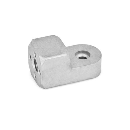 GN 484 Aluminum, Attachment clamp mountings Finish: MT - Matte tumbled finish