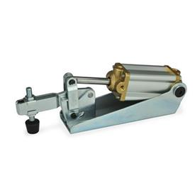 GN 860 Steel Pneumatic Toggle Clamps, with Magnetic Piston