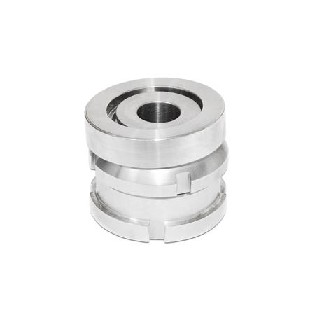 GN 350.2 Stainless Steel Leveling Sets, with Spherical Washer, without Lock Nut  Material: NI - Stainless steel