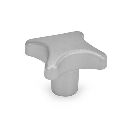 DIN 6335 Stainless Steel Hand Knobs, with Tapped Through or Tapped Blind Bore Type: E - With tapped blind bore