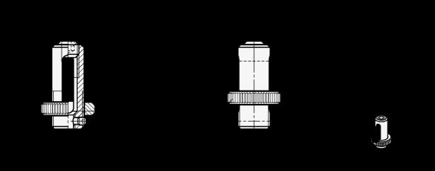 GN 809 Soportes de sujeción de acero, para abrazaderas de palanca con brazo de sujeción sólido boceto
