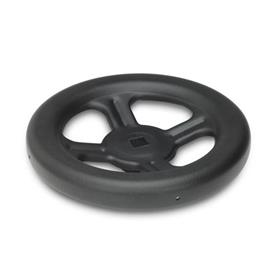 GN 227.1 Steel, Spoked Handwheels, without Handle Bore code: V - With square
