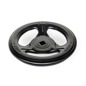 GN 227.7 Volantes para válvulas de acero estampado Color: SWK - Negro, RAL 9005