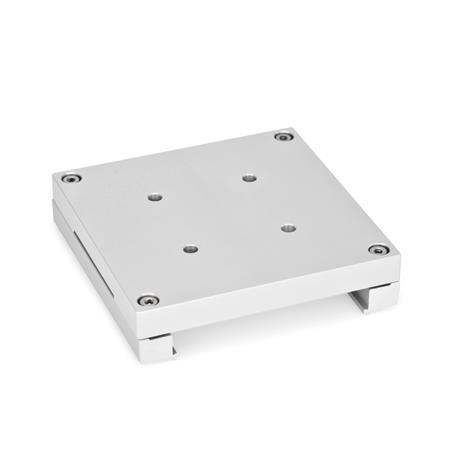 GN 900.4 Placas de montaje, de aluminio  Tipo: B - con orificios de retención y plataformas giratorias