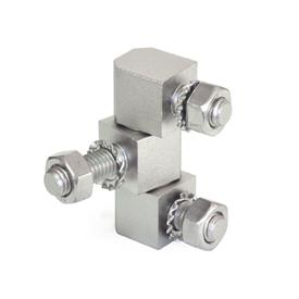 GN 129.5 Stainless Steel Hinges, Consisting of Three Parts