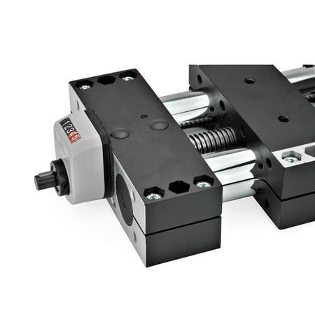 GN 491.1 Juegos de instalación de acero, para indicadores de posición usados en actuadores lineales GN 491 / GN 492 Identificación núm.: 1 - para indicadores de posición mecánicos GN 953 / GN 954 / GN 955