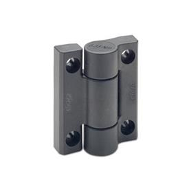 EN 233.3 Technopolymer Plastic Hinges, with Spring-Loaded Return