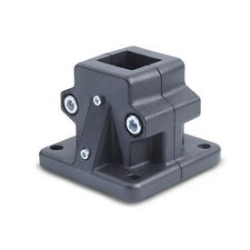 GN 165.1 Conectores de actuadores lineales, aluminio, montaje dividido