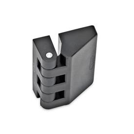 EN 154 Hinges, Technopolymer Plastic Type: A - 2x2 threaded blind bores