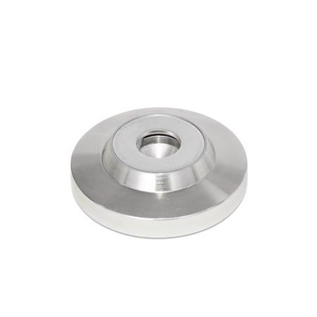 GN 6311.5 Stainless Steel Thrust Pads, for DIN 6332 Grub Screws  Type: OS - Without cap