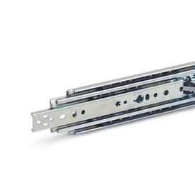 GN 1440 Steel Telescopic Slides, with Full Extension, Load Capacity up to 697 lbf