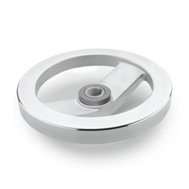 GN 322.4 Aluminum Two Spoked Safety Clutch Handwheels, with Friction Bearing  Type: A - Without handle