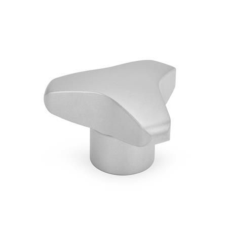 GN 5345 Stainless Steel AISI 303 Three-Lobed Knobs, with Tapped or Plain Bore Type: E - With tapped blind bore