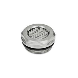 GN 7404 Stainless Steel Pressure Equalization Plugs, Oil / Water Repellent