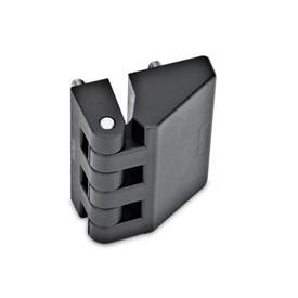 EN 154 Bisagras de tecnopolimero plástico Tipo: D - 2x2 espárragos roscados