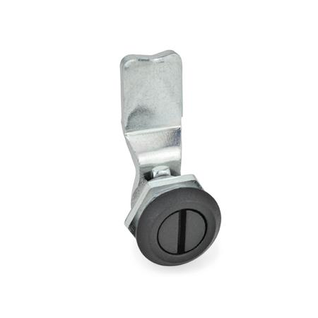 GN 115 Zinc Die-Cast Cam Latches, Operation with Socket Key Type: SCH - Operation with slot Finish (Locating ring): SW - Black, RAL 9005, textured finish