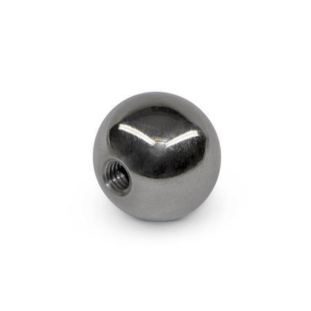 BK Perillas de bola de acero o latón, tipo roscado Material: ST - Acero