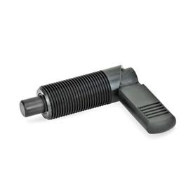 GN 612 Steel Cam Action Indexing Plungers, Lock-Out Type: B - With plastic sleeve, without lock nut