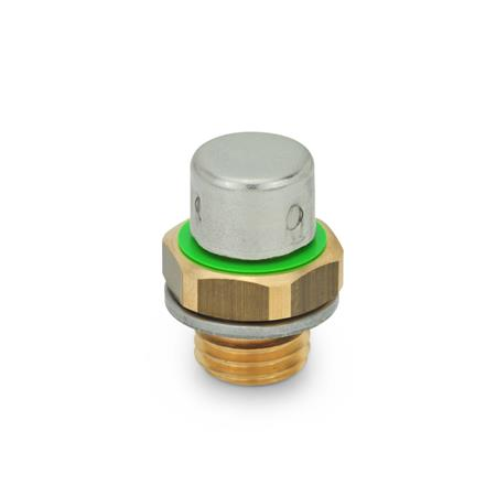 GN 883 Brass Breather Valves Type: B - high design, with Stainless Steel cap