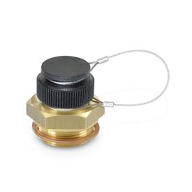 GN 880 Steel or Brass Oil Drain Valves Material: MS - Brass