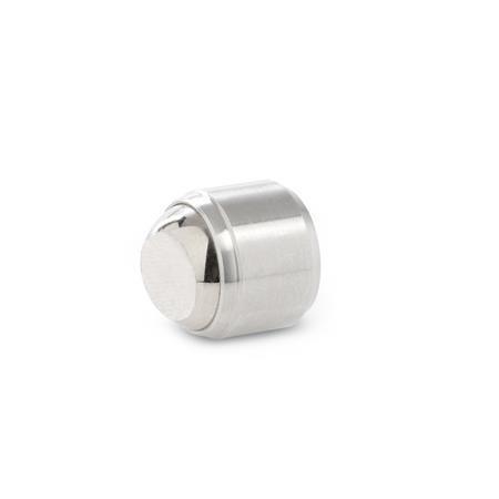 GN 709.25 Almohadillas de sujeción de acero inoxidable, roscado Tipo: B - Cara de contacto plano