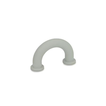 EN 224.3 Technopolymer Plastic Finger Grip Handles, with Plain Bore Holes Farbe: GR - Gray, RAL 7035, matte finish