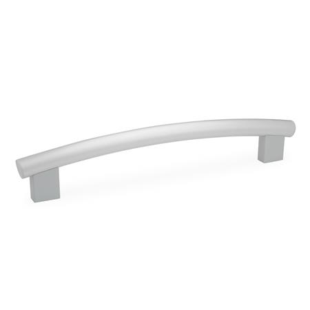 GN 666.4 Aluminum or Stainless Steel Tubular Arch Handles, with Tapped Inserts Finish: ES - Anodized finish, natural color
