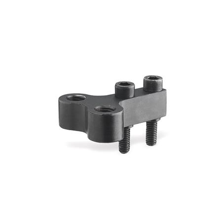 GN 867 Steel Single Post Coupling / Y-Coupling Accessories, for GN 864 / GN 865 / GN 866 Pneumatic Fastening Clamps Type: Z - for two clamping bolts