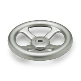 GN 227.4 A4 Stainless Steel, Spoked Handwheels Bore code: V - With square<br />Type: A - Without handle