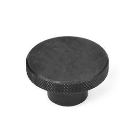 KRSK Tuercas moleteadas de acero o acero inoxidable, con orificio ciego roscado o liso Material: ST - Acero