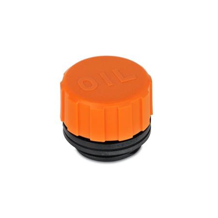 EN 552 Plastic Filler Breathers, with or without Splash Guard  Type: A - without dipstick