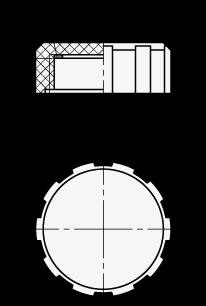 EN 548.2 Plastic Oil Plugs, Plain sketch