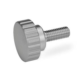 GN 535 Stainless Steel Knurled Screws Finish: MT - Matte shot-blasted finish